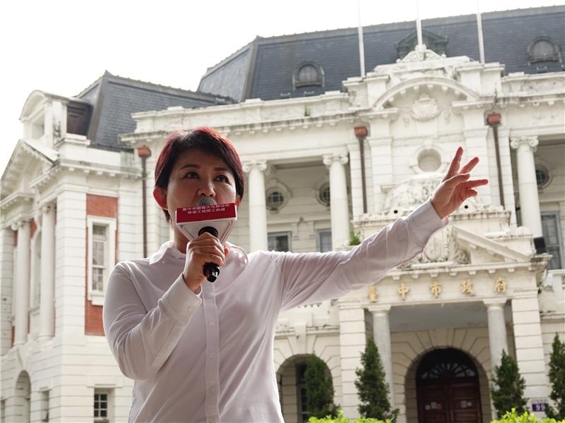 盧市長於開工典禮向大家說明未來願景