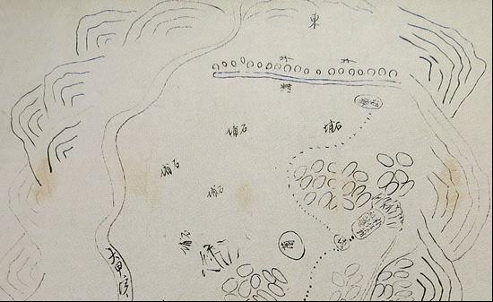 手繪「朴子籬社圖」