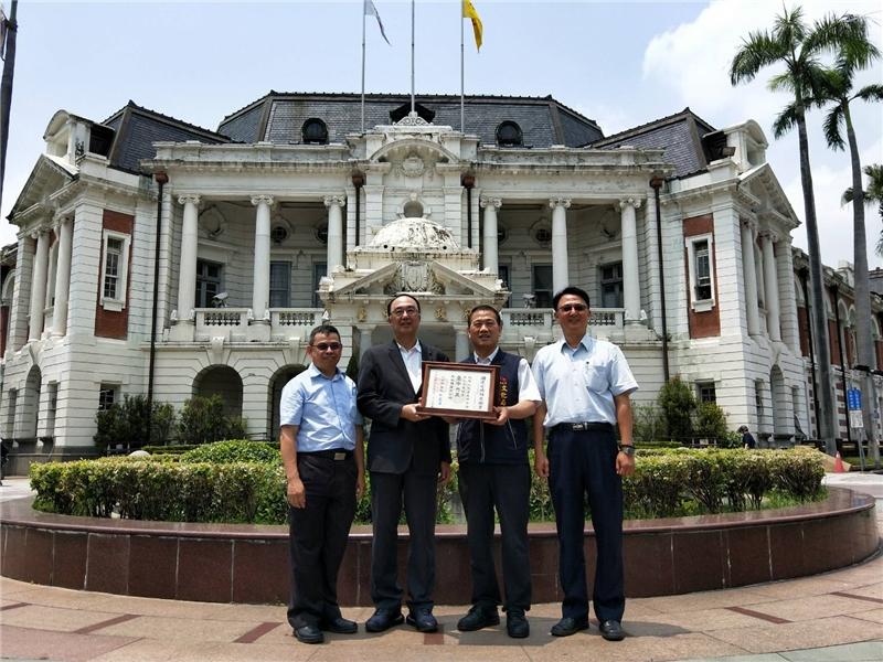文化部文化資產局致贈台中州廳國定古蹟指定證書予本府