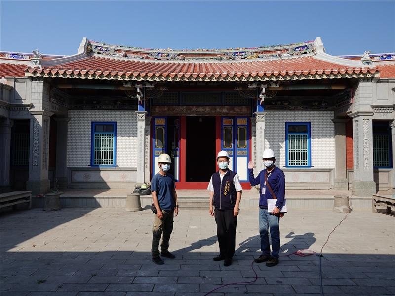 清水黃家瀞園第二進建築,採傳統閩南式樣